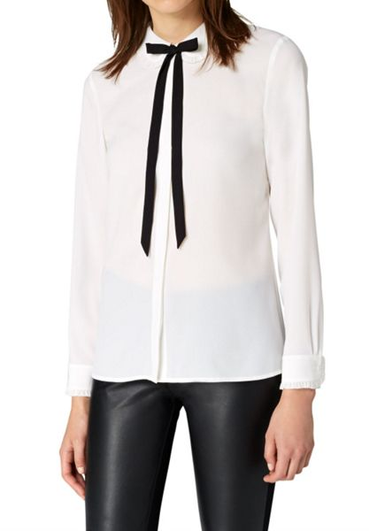 Hallhuber Ruffle blouse with bow detail