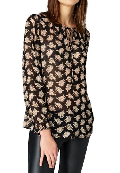 Hallhuber Blouse top with foliage print