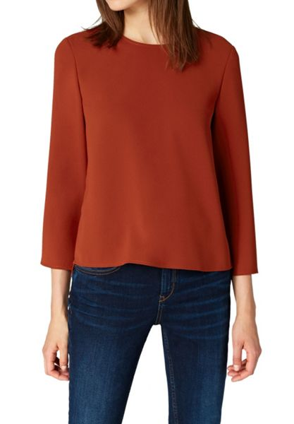 Hallhuber Blouse with Side Vents