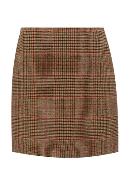 Hallhuber Glen check skirt