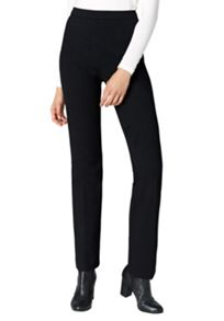 Hallhuber Straight-cut jersey trousers