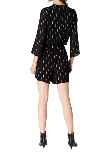 Hallhuber Silk-Lurex-jacquard playsuit