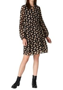 Hallhuber Tiered dress with foliage print