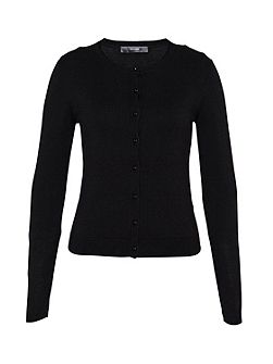 Crop cardigan with decorative buttons
