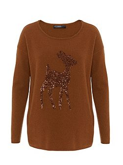 Wool jumper with Bambi motif