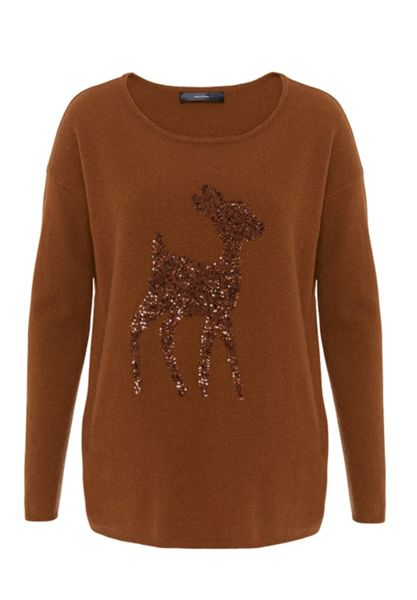 Hallhuber Wool jumper with Bambi motif