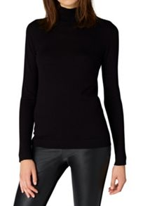 Hallhuber Fine Knit Jumper with Stand Collar