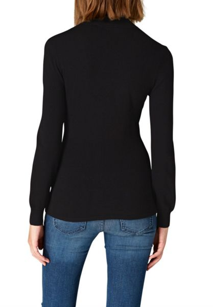 Hallhuber Cinched Stand Collar Jumper