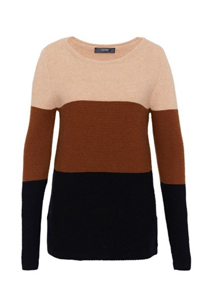 Hallhuber Colour blocking knit jumper