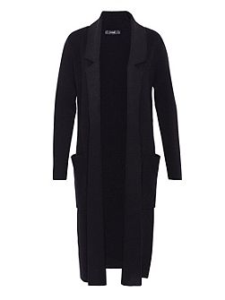 Maxi cardigan with lapels