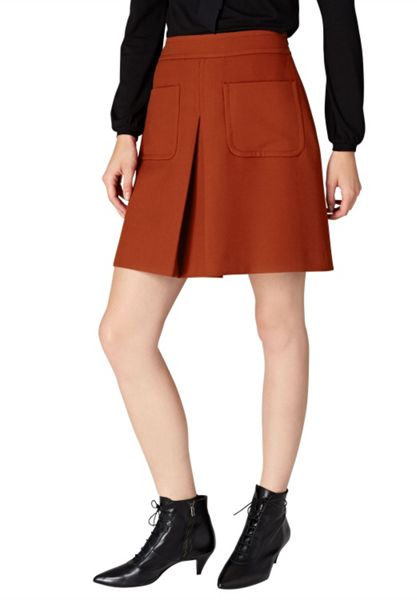 Hallhuber A-line skirt with patch pockets