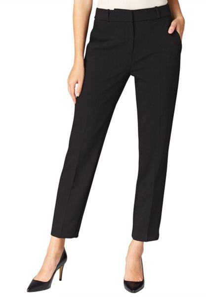 Hallhuber Straight-cut centre crease trousers