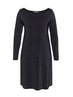 Knit dress with Lurex