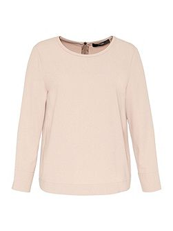 Crepe Top with Back Zipper