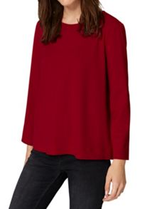 Hallhuber Crepe Top with Back Zipper