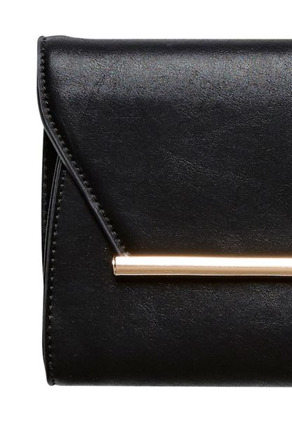 Hallhuber Clutch trimmed with metallic hardware
