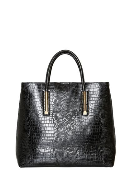 Hallhuber Croc print shopper bag