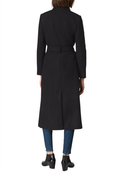 Hallhuber Maxi Coat with Stand Collar