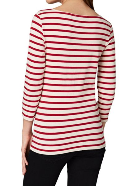Hallhuber Stripe top with three-quarter sleeves