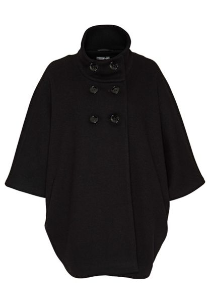 Hallhuber Wool cape with stand collar