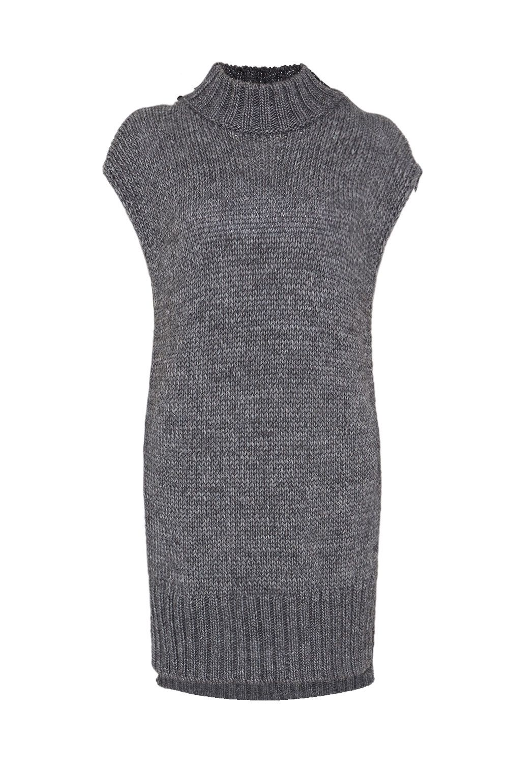 Hallhuber Hallhuber Chunky Knit Long Tunic, Grey