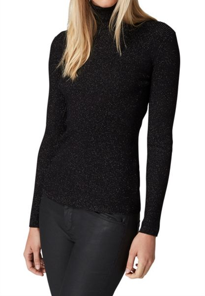 Hallhuber Ribbed Turtle Neck Jumper With Lurex