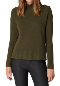 Hallhuber Jumper With Military-Inspired Buttons