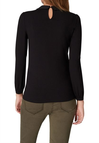 Hallhuber Long sleeve with pleated collar