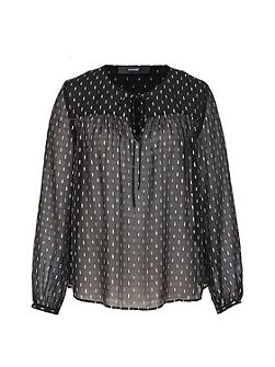 Silk blouse with silver elements