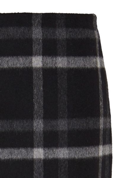Hallhuber Flannel skirt with check patterning