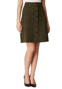 Hallhuber Suede skirt with snap buttons