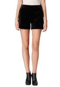 Hallhuber Velvet shorts with slanted pockets