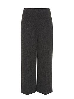 Jersey culottes with centre crease