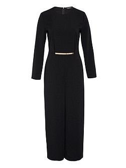 Culottes jumpsuit with adornment