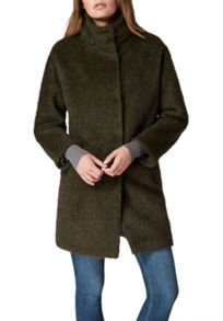 Hallhuber Brushed Mohair Coat