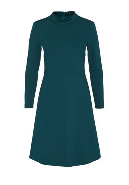 Hallhuber Jersey dress with stand collar