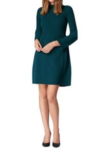Hallhuber Knit Dress with Tall Stand Collar