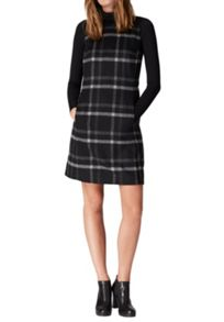 Hallhuber Flannel dress with check pattern