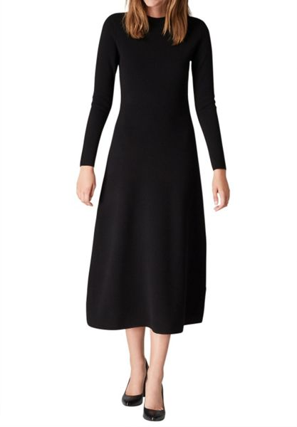 Hallhuber Maxi Knit Dress Made Of Pure Wool