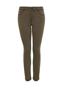 Skinny jeans with aged-dye effect