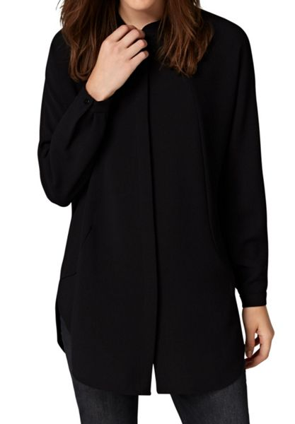 Hallhuber Back vent long blouse