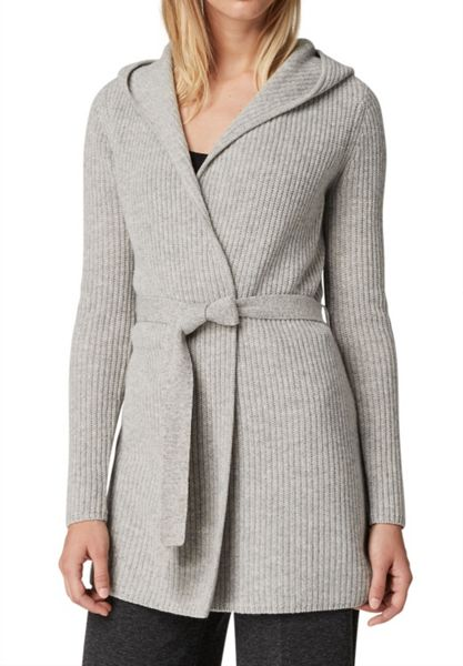 Hallhuber Hooded Cardigan with Belt