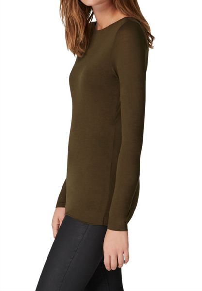 Hallhuber Long Sleeve with Bat Neckline