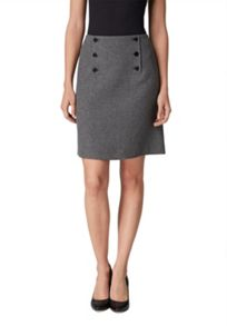 Hallhuber Button flared skirt