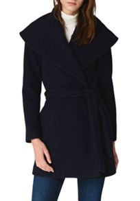 Hallhuber Wrap jacket with large shawl collar