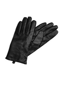 Hallhuber Leather gloves with cashmere lining
