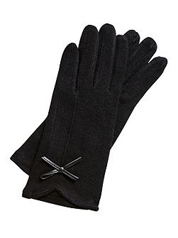 Gloves With Bow Accent
