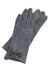 Hallhuber Gloves With Bow Accent