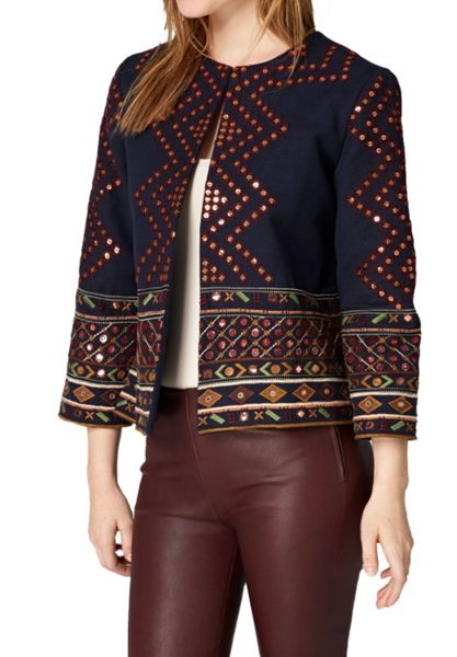 Hallhuber Embroidered boho-style jacket