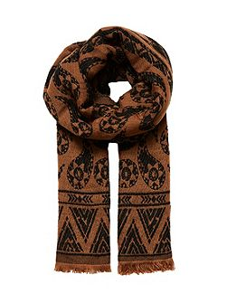 Double Layer Jacquard Scarf